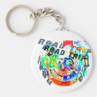 ROAD TRIP PRODUCTS BASIC ROUND BUTTON KEYCHAIN