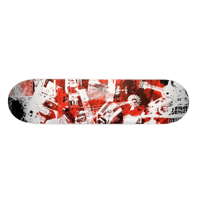 Road Trip Retro Collage Skateboard Deck