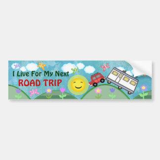 Road Trip Summer Vacation Bumper Sticker