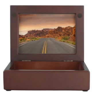 Road trip sunset memory box