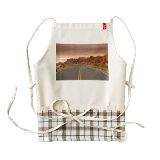 Road trip sunset zazzle HEART apron