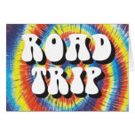 Road Trip tie-dye design Card