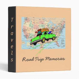 Road Trip Travel Memories Binder