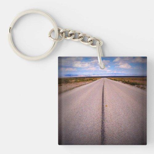 Road Trip Vacation Photo Keychain