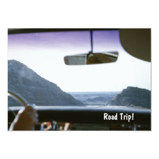 Road Trip Vintage Car View Invitation
