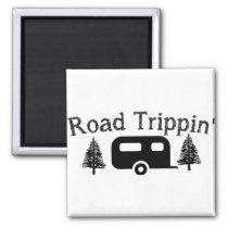 Road Trippin' Camping Camper Design Magnet