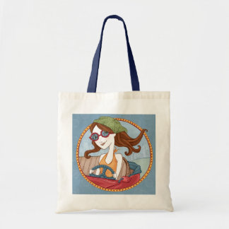 Road Trippin' Tote-Blue Budget Tote Bag