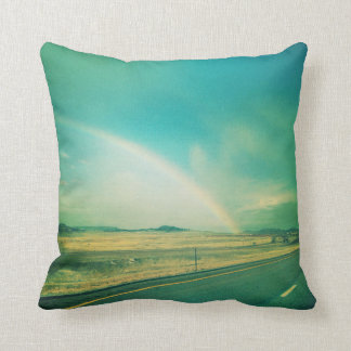 Road Tripping Rainbow Throw Pillow