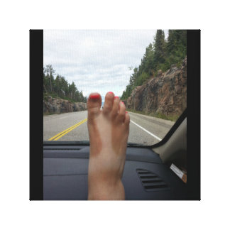 Road trips and sandal tans canvas print