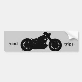 Road trips car bumper sticker