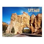 Road tunnel, Red Canyon, Utah Postcard