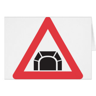 Road Tunnel Sign Note Cards