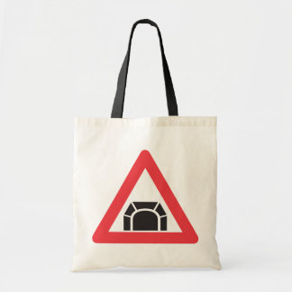 Road Tunnel Sign Tote Bag