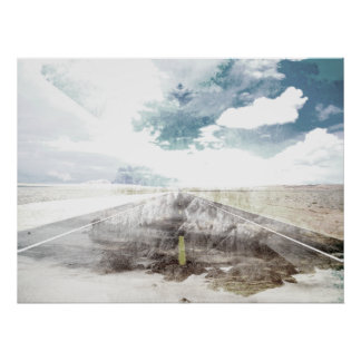 Road Vintage Abstract Poster