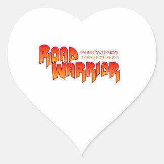 ROAD WARRIOR HEART STICKER