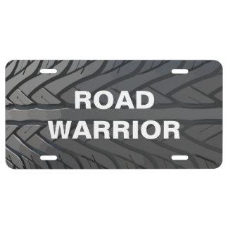 Road Warrior Tire Auto License Plate