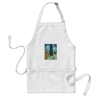 Road with Cypress and Star Adult Apron