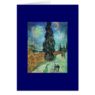Road with Cypress and Star Card