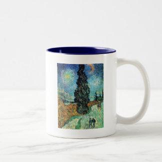 Road with Cypress and Star Coffee Mug