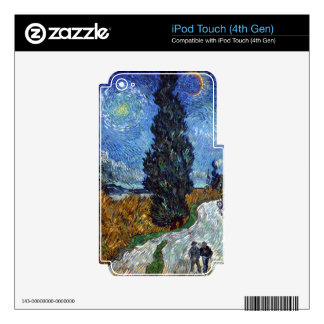 Road with Cypress and Star iPod Touch 4G Decal