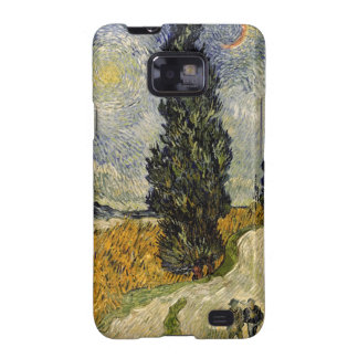 Road with Cypresses, 1890 Galaxy S2 Covers