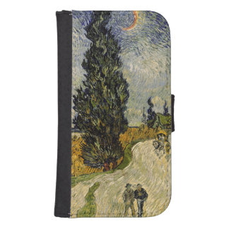Road with Cypresses, 1890 Phone Wallet Cases