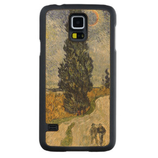 Road with Cypresses, 1890 Carved® Maple Galaxy S5 Slim Case