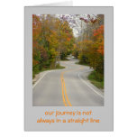 "ROAD WITH MANY ""S"" CURVES/FALL FOLIAGE/OUR JOURNEY STATIONERY NOTE CARD"