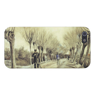 Road with Pollarded Willows and a Man with a Broom Case For iPhone SE/5/5s