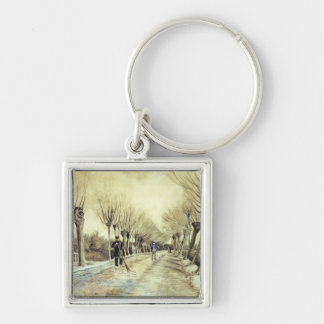 Road with Pollarded Willows and a Man with a Broom Keychain