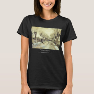 Road with Pollarded Willows and a Man with a Broom T-Shirt
