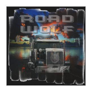 Road Wolf Canvas Print