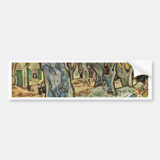 Road Workers By Vincent Van Gogh Bumper Stickers