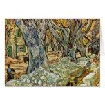 Road Workers By Vincent Van Gogh Card