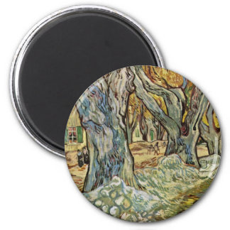 Road Workers By Vincent Van Gogh Refrigerator Magnet