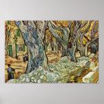 Road Workers By Vincent Van Gogh Print