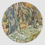 Road Workers By Vincent Van Gogh Round Stickers