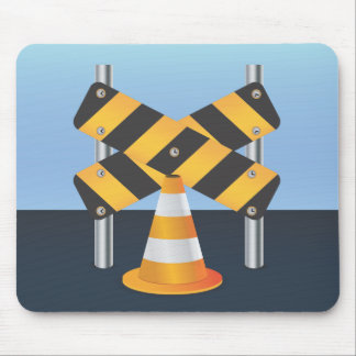Road Works Mouse Pads