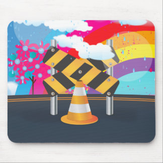 Road Works Mousepads