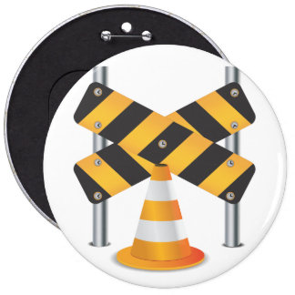 Road Works Pinback Button