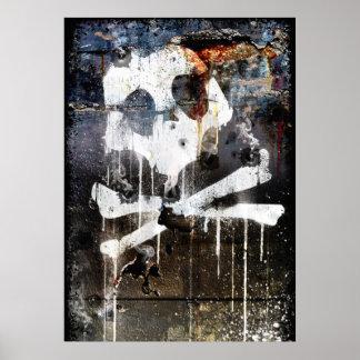Roadblock Skull and Crossbones Poster