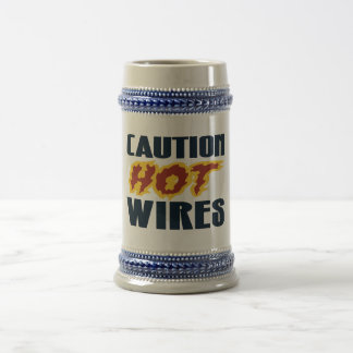 ROADHOUSE CAUTION HOT WIRES BEER STEIN