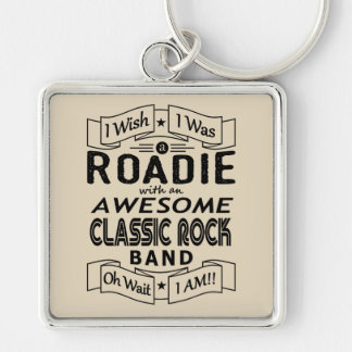ROADIE awesome classic rock band (blk) Keychain