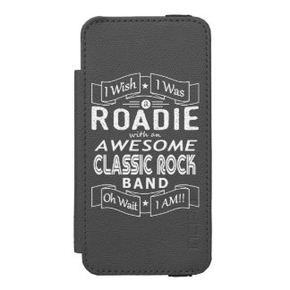 ROADIE awesome classic rock band (wht) Wallet Case For iPhone SE/5/5s