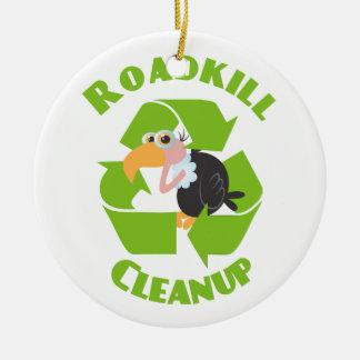 Roadkill Cleanup Buzzard Ceramic Ornament