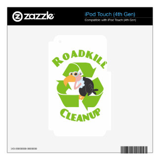 Roadkill Cleanup Buzzard Decal For iPod Touch 4G