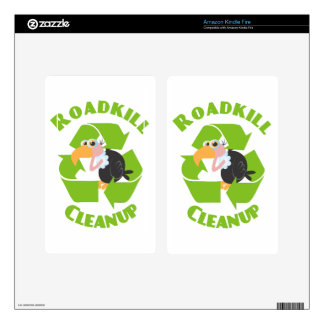 Roadkill Cleanup Buzzard Skin For Kindle Fire