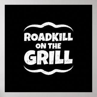 Roadkill en la parrilla - fiesta del Bbq del Póster