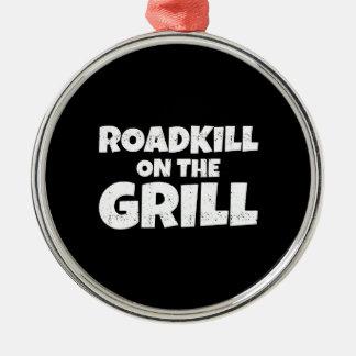 Roadkill en la parrilla - fiesta del Bbq divertido Adorno Navideño Redondo De Metal