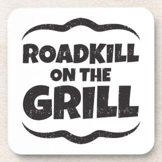 Roadkill en la parrilla - fiesta del Bbq divertido Posavasos De Bebidas